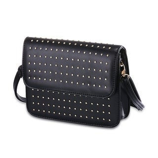 Petite Faux Leather Silver Stud Clutch