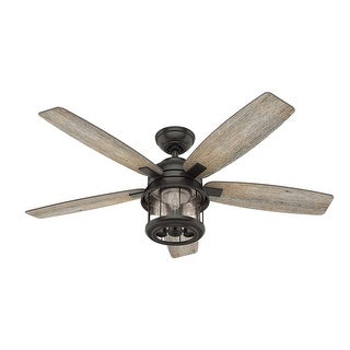 Link to Hunter Fan Coral Bay 52-inch Noble Bronze Outdoor Ceiling Fan with Light - Noble Bronze - Noble Bronze Similar Items in Ceiling Fans