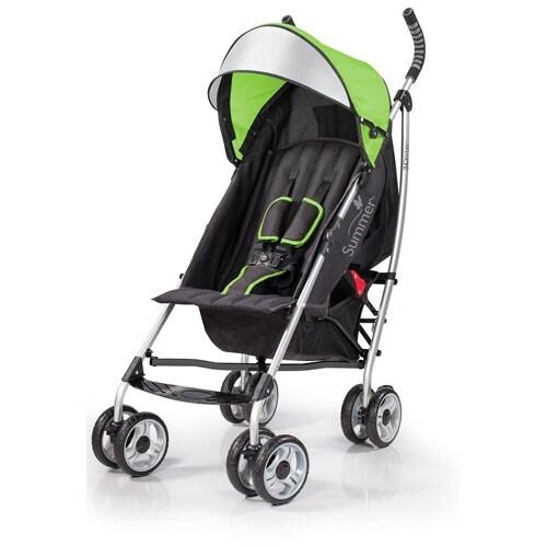Summer Infant 3D lite Convenience Stroller-Tropical Green Baby Stroller