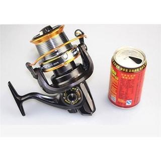 Saltwater Trolling Reel Game Fishing Full Metal Heavy Weight Drag Black LJ8000