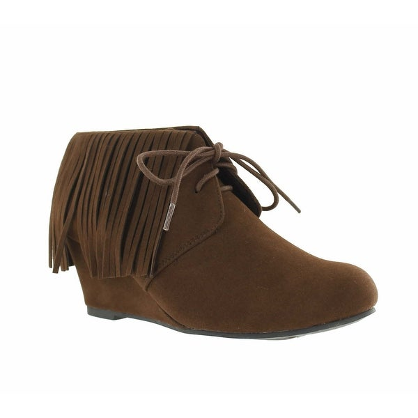 Red Circle Footwear 'Aster' Wedge Bootie with Fringe