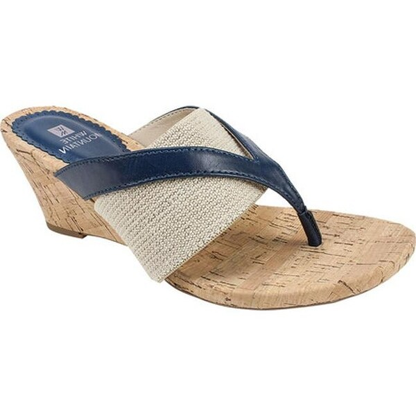 Shop White Mountain Women S Alanna Thong Sandal Navy