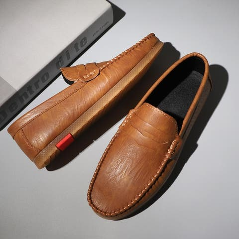 Large Size Men's Peas Shoes Leather Casual
