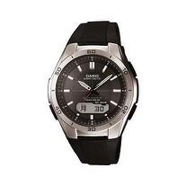 Casio Mens Wave Ceptor Analog-Digital Stainless Steel Bracelet Watch