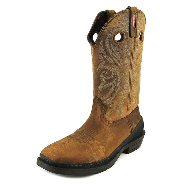 Rocky RKW0147 Men Square Toe Leather Brown Western Boot