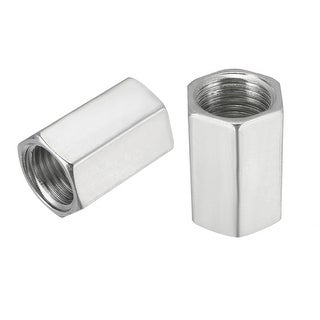 "1/4 to 1/4"" Coupling Alloy Pipe Fitting NPT Adapter Female Thread Oil Fuel 5Pcs - 1/4""NPT Female Pipe Fitting"