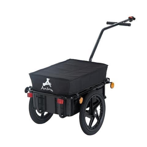 Aosom Double Wheel Internal Frame Enclosed Bicycle Cargo Trailer