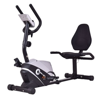Goplus Recumbent Exercise Bike Stationary Bicycle Magnet Cardio Workout Fitness