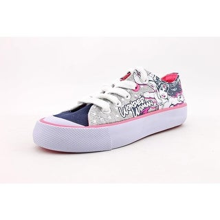 DC Comics Super Girl Low Youth Round Toe Canvas Multi Color Sneakers