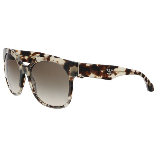 7c3fe75f6d Shop Prada PR10RS UA03D0 Havana Grey Square Sunglasses - 57-19-140 ...