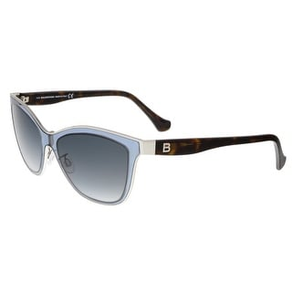 Balenciaga BA0084 89B Clear Light Blue and Tortoise Wayfarer Sunglasses