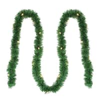 "12' x 2.5"" Pre-Lit Green Pine Artificial Christmas Garland - Clear Lights"