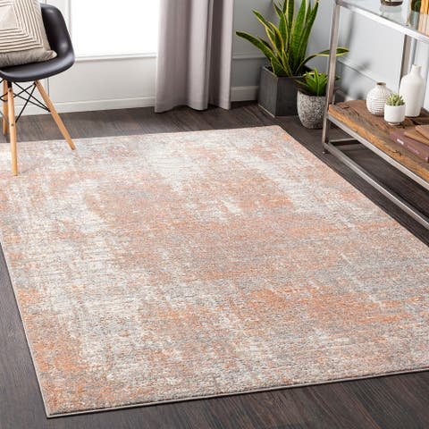 Zofia Distressed Abstract Area Rug