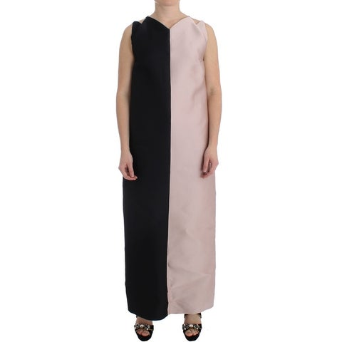 Barbara Casasola Barbara Casasola Black Silk Long Gown Maxi Dress - it42-m