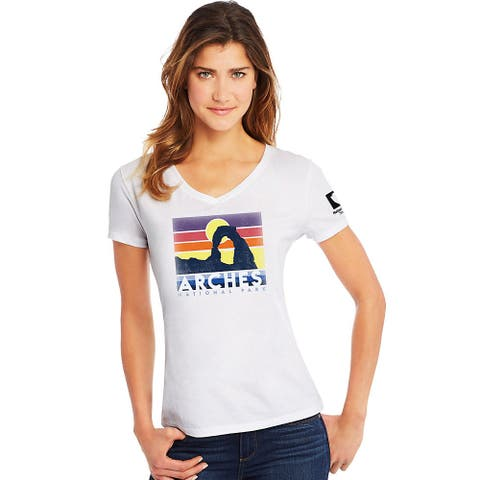 Hanes Arches National Park Women's Graphic Tee - Color - Arches/Sunset/White - Size - M
