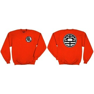 Dragonball Z Kame Symbol Adult Orange Crewneck Sweatshirt