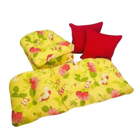 Outdoor Risa Lemonade 5 Piece Cushion Set - 19