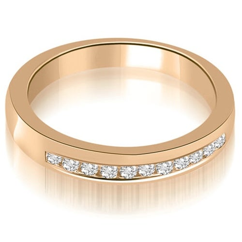 0.25 cttw. 14K Rose Gold Classic Channel Round Cut Diamond Wedding Band