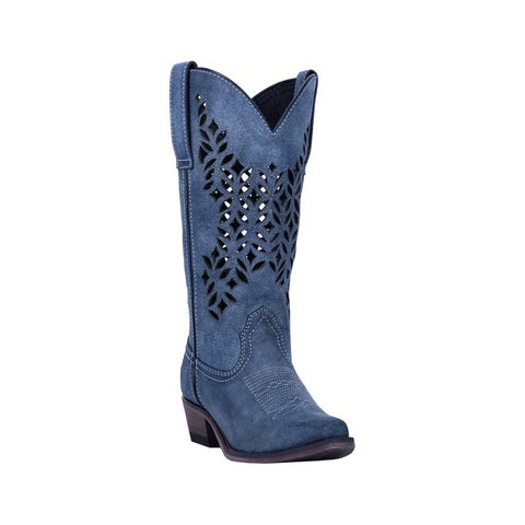 "Laredo Western Boots Womens Chopped Out Snip Toe 13"" Shaft"