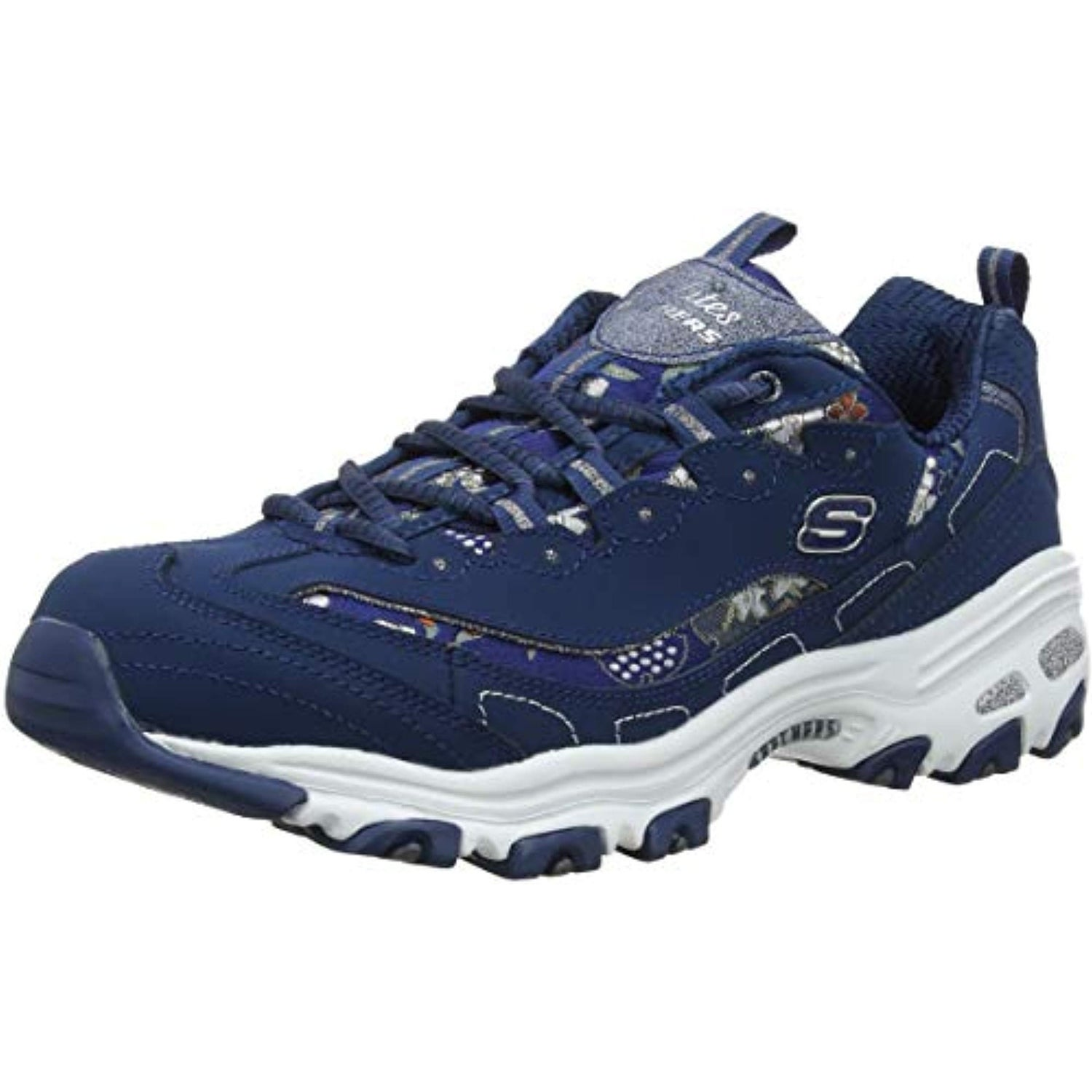 A bordo Cambios de Pizza  Skechers D'Lites Floral Days Womens Sneakers Navy 9.5 - Overstock - 30072364