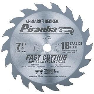"Black & Decker 77-717 ""Piranha"" Circular Saw Blade 7-14"" With 18T"