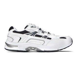 Orthaheel Men's Action Walker Shoes 11.5 D(M) US White/navy - 11.5 d(m) us