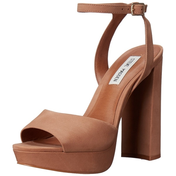 Steve Madden Womens Brrit Leather Open Toe Casual Ankle Strap Sandals