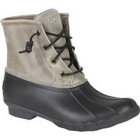 Sperry Top-Sider Women's Saltwater Duck Boot Black/Grey Rubber/Leather