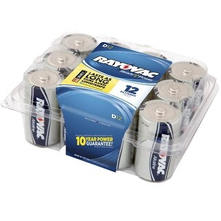 Rayovac Reclosable Pro Pack D Alkaline Batteries, Pack of 12