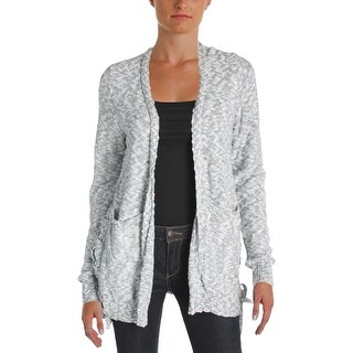 Aqua Womens Jessica Cardigan Top Knit Marled