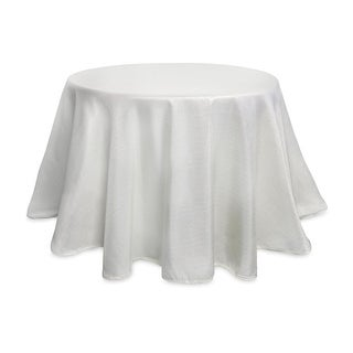 """Pack of 2 Elegant Metallic Silver Decorative Round Fabric Christmas Tablecloths 96"""""""