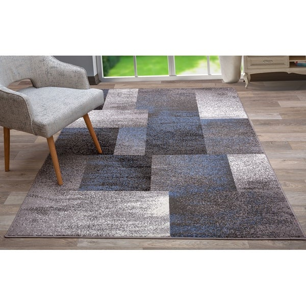 Modern Geometric Boxes Area Rug. Opens flyout.