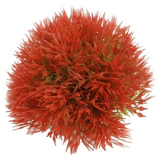 """Unique Bargains Fish Tank Red Ball Shaped Underwater Plants 2.6"""" Height"""