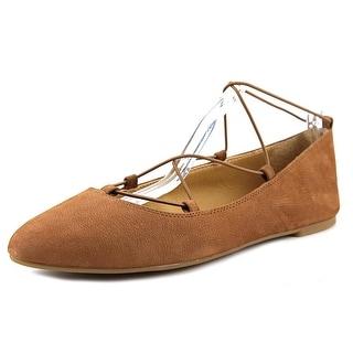 Lucky Brand Aviee Women Round Toe Leather Brown Ballet Flats