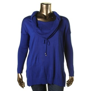 Cable & Gauge Womens Long Sleeves Cowl Neck Pullover Sweater