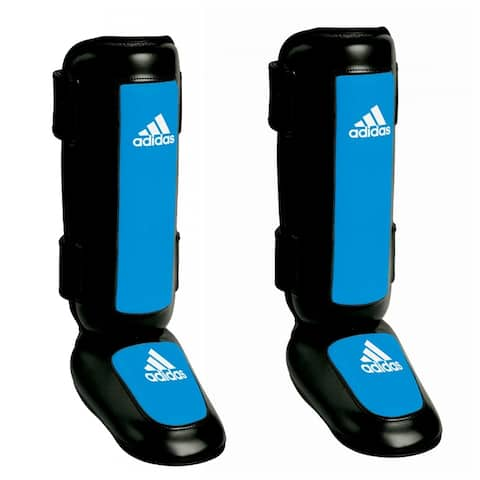 Adidas Pro Style Kickboxing Shin Instep Guards - Black/Blue - 2XL