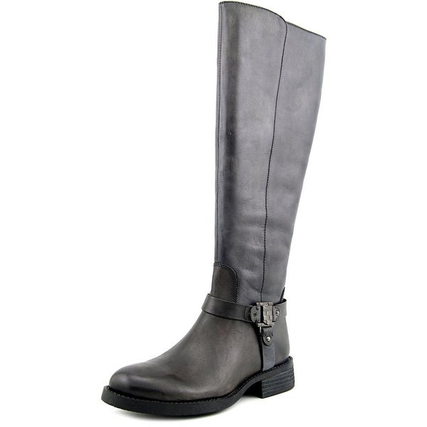 Vince Camuto Farren Women Round Toe Leather Gray Knee High Boot