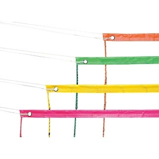 Champion Sports 30 x 3 ft Fluorescent Volleyball Net, Neon Yellow