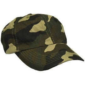 Camouflage Camo Baseball Adjustable Cap Ball Hat, Green Black Grey