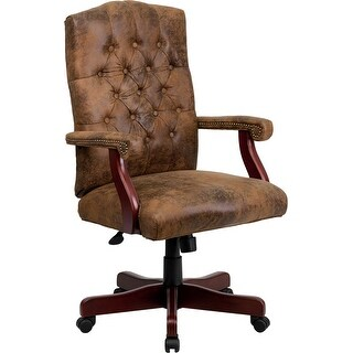 Silkeborg Bomber Brown Classic Executive Swivel Chair w/Arms
