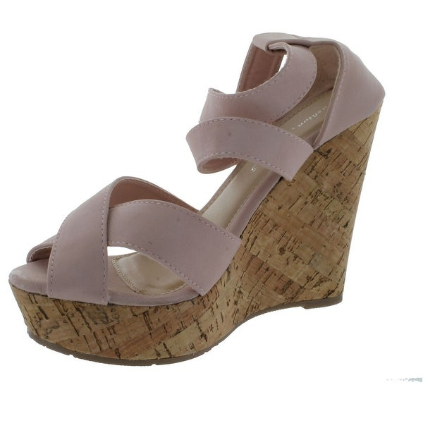 Fashion Focus Womens Joan-2 Wedge Sandals - Blush - 10 b(m) us