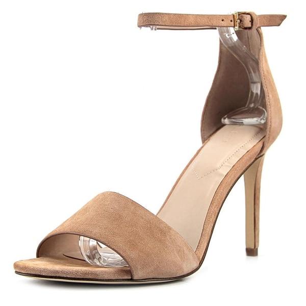 d4dcf484dc4 Shop Aldo Melawet Women Open-Toe Suede Nude Heels - Free Shipping ...
