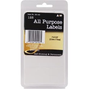 "White All Purpose 1""X2.75"" 128/Pkg - Labels"