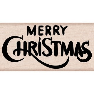 """Hero Arts Mounted Rubber Stamp 4""""X2""""-Merry Christmas Calligraphy"""