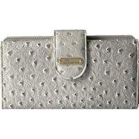 Buxton Womens Ostrich Brights Go To Clutch Wallet Faux Leather Embossed - o/s