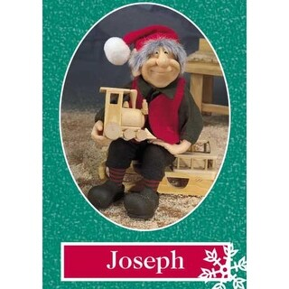 """9.5"""" Zims The Elves Themselves Joseph Collectible Christmas Elf Figure"""