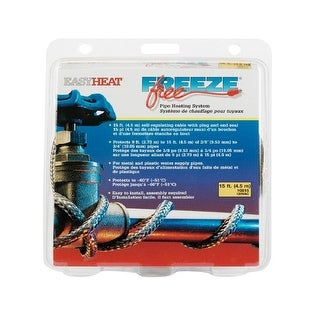 Easy Heat 10815 Freeze Free Self-Regulating Pipe Heating System, 15 Feet