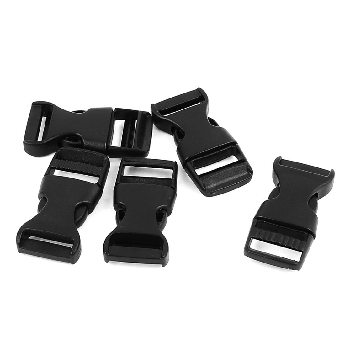 30 Pack 0.75 Side Quick Release Plastic Buckles Black