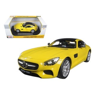 Mercedes AMG GT Yellow 1/18 Diecast Model Car by Maisto
