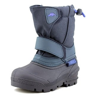 Tundra Quebec Toddler Round Toe Synthetic Blue Snow Boot